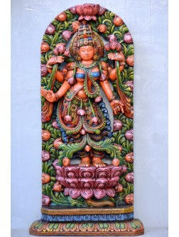 Goddess Lakshmi Blooming From Lotus